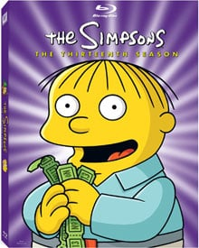 The Simpsons 13th Season DVD and Blu-Ray