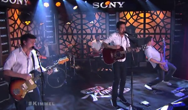 Frank Turner performs on Jimmy Kimmel Live