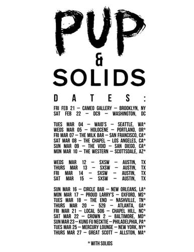 Pup & Solids tour dates