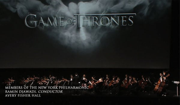 Game of Thrones composer Ramin Djawadi conducting New York Philharmonic