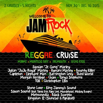 Welcome To Jamrock Reggae Cruise 2015