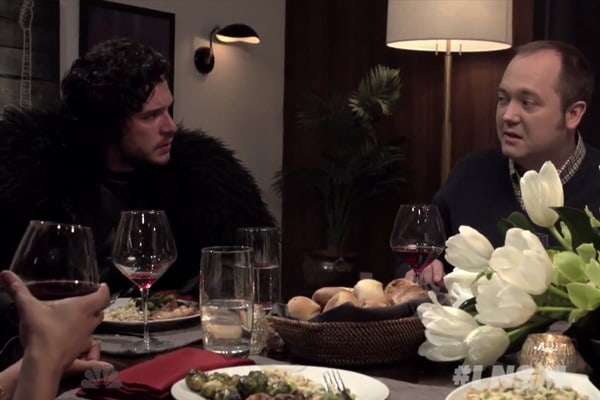 Seth Brings Jon Snow to a Dinner Party