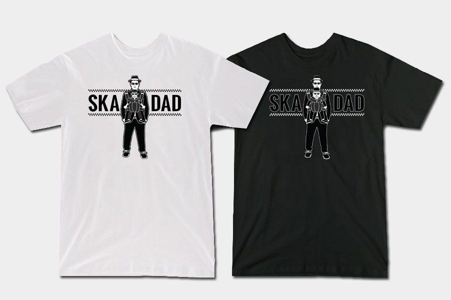 """Buy """"Ska Dad"""" T-shirts now at Teepublic!   ReadJunk.com"""