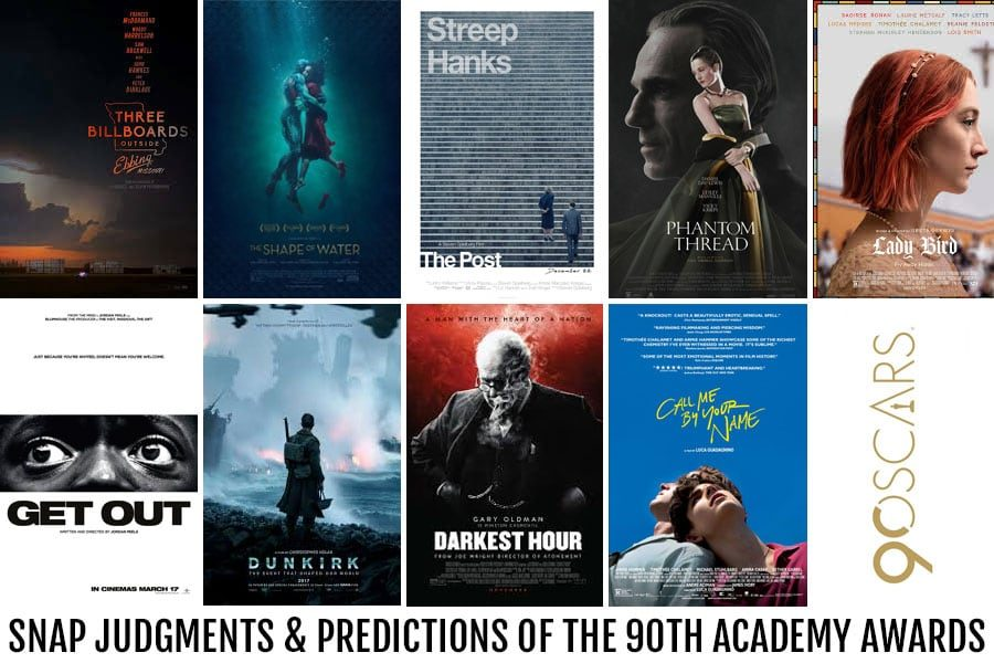 Snap Judgments & Predictions Of The 90th Academy Awards