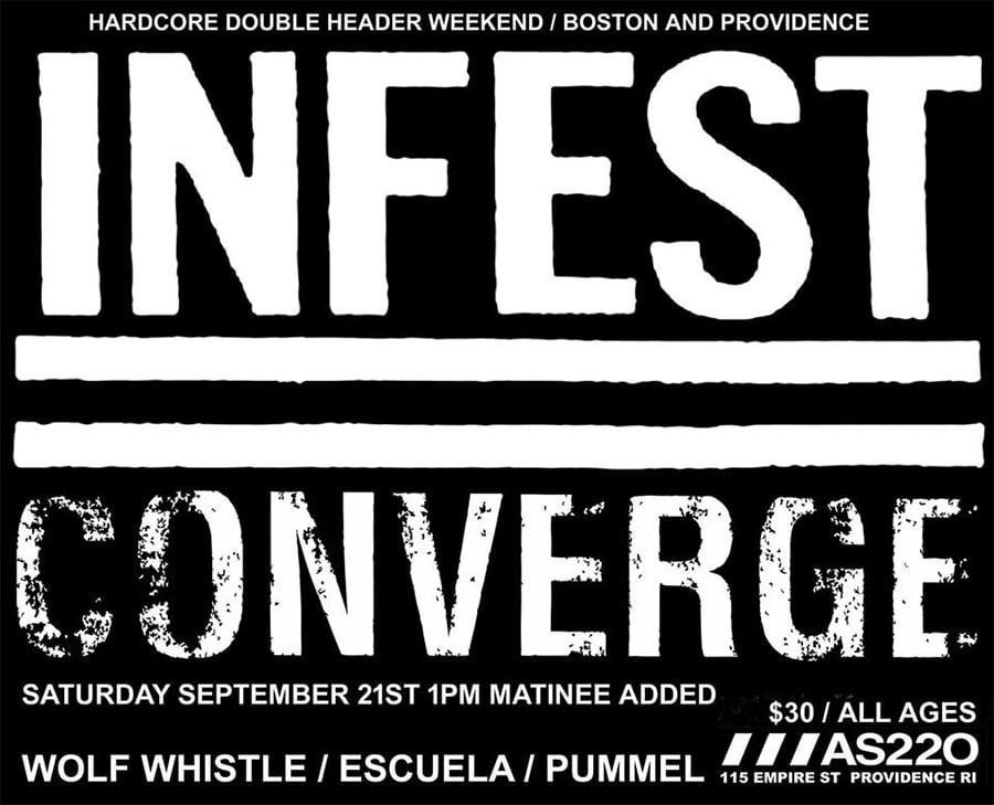 Infest, Converge @ AS220, Providence, RI