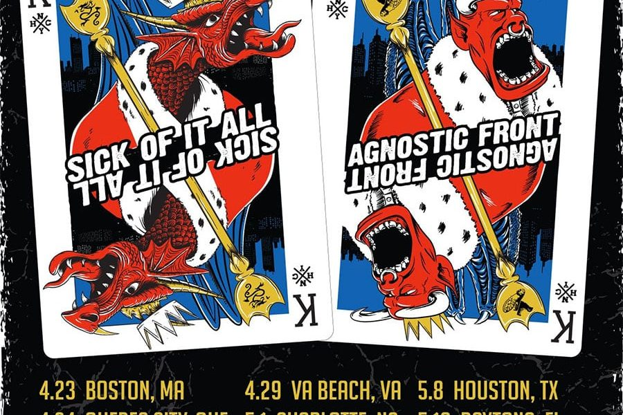 Agnostic Front and Sick Of It All Announce 2020 Spring Tour
